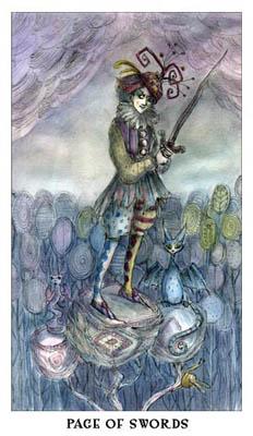 宝琳娜塔罗牌的图像里有许多细节,像是让人物