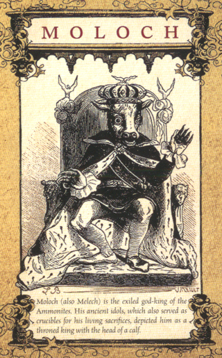 78张塔罗牌架构的恶魔塔罗牌,是根据1893年的地狱辞典中的版画而来