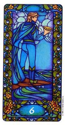 此副塔罗牌,但是我个人很喜欢牌背的设计,藏青色的背景搭配上金色压纹